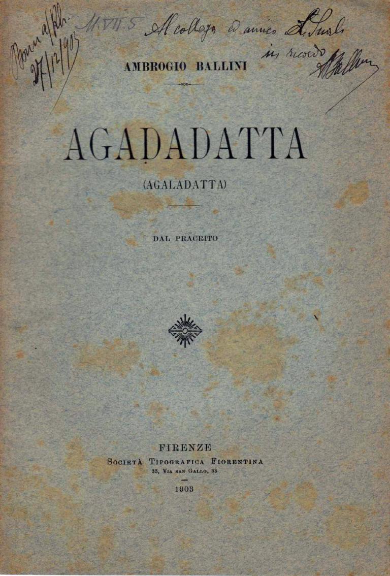 Agadatta - Ambrogio Ballini 1903
