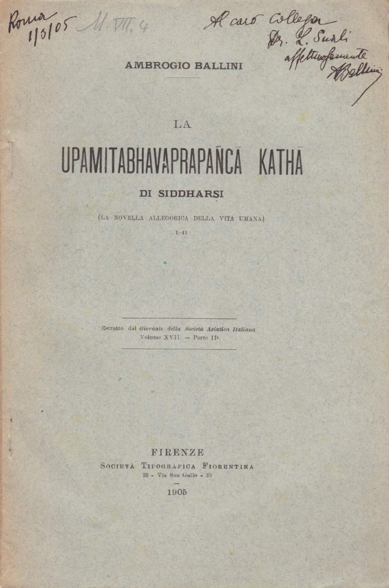 Upamitabhavaprapanca-katha - Ambrogio Ballini (1905)