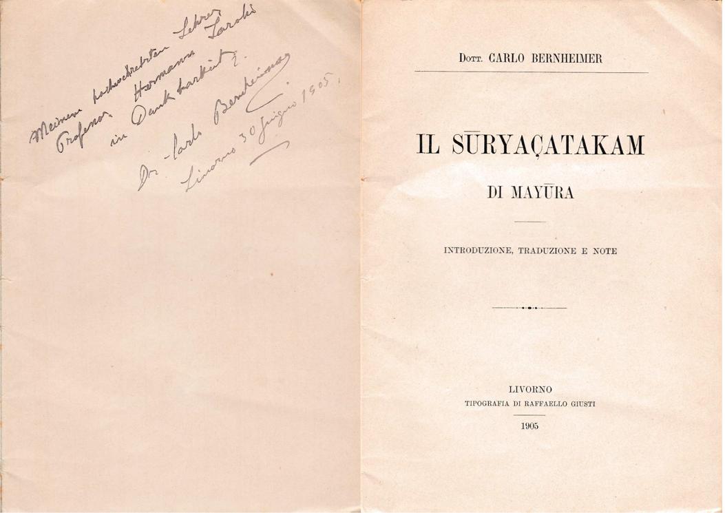 Suryasatakam - Carlo Bernheimer (1905)