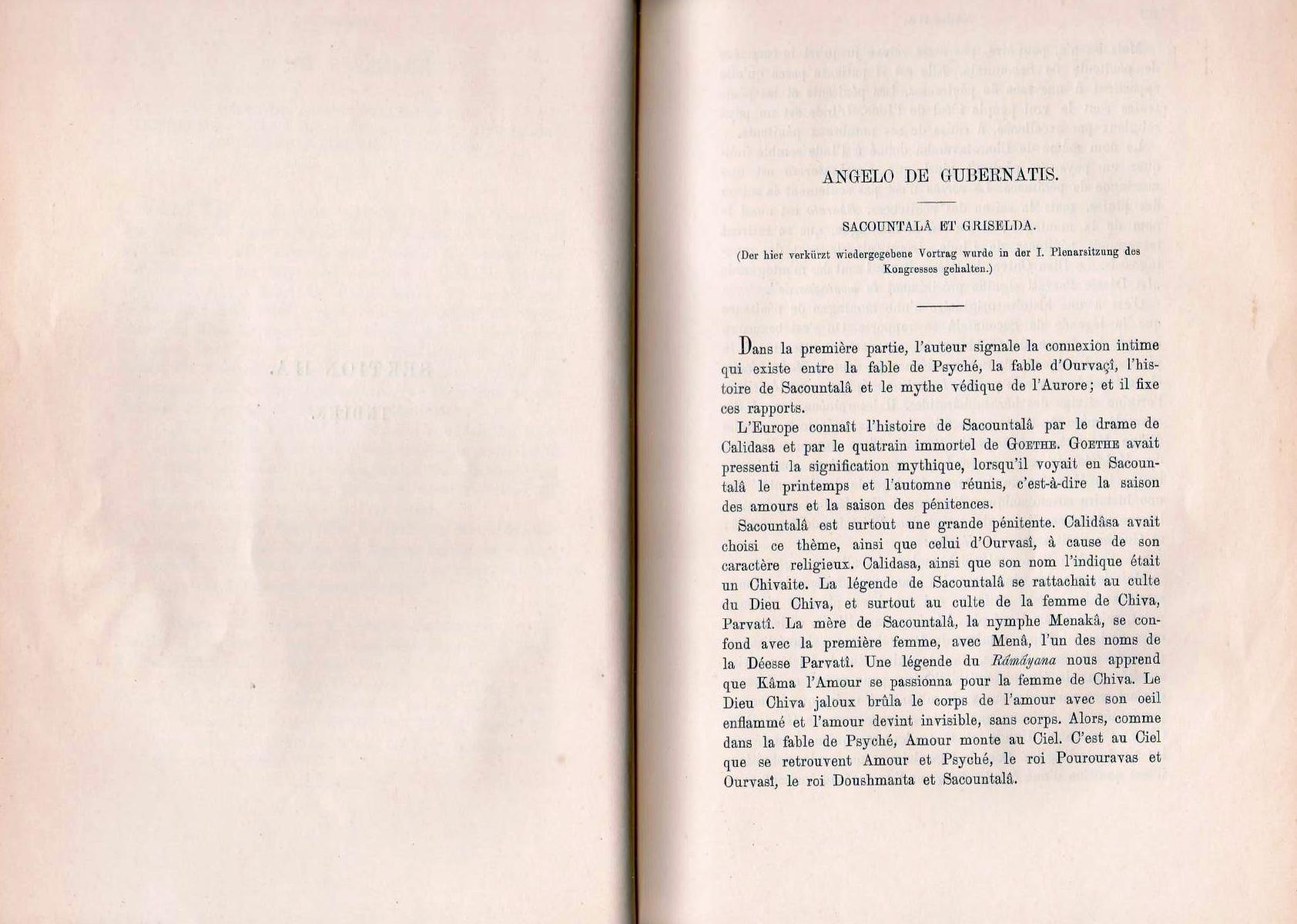 Sakuntala e Griselda - De Gubernatis