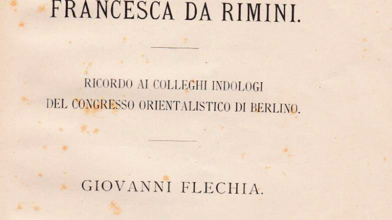 Versione indiana dell'episodio di Francesca da Rimini - Giovanni Flechia (1881)